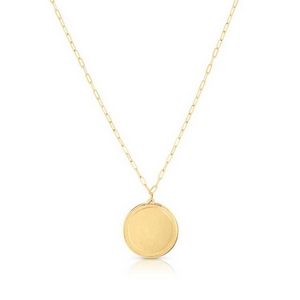 Hammered Bordered Disc Necklace