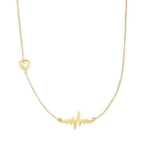 Heartbeat Gold Delicate Necklace