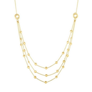 3 Layered Gold Chain Necklace
