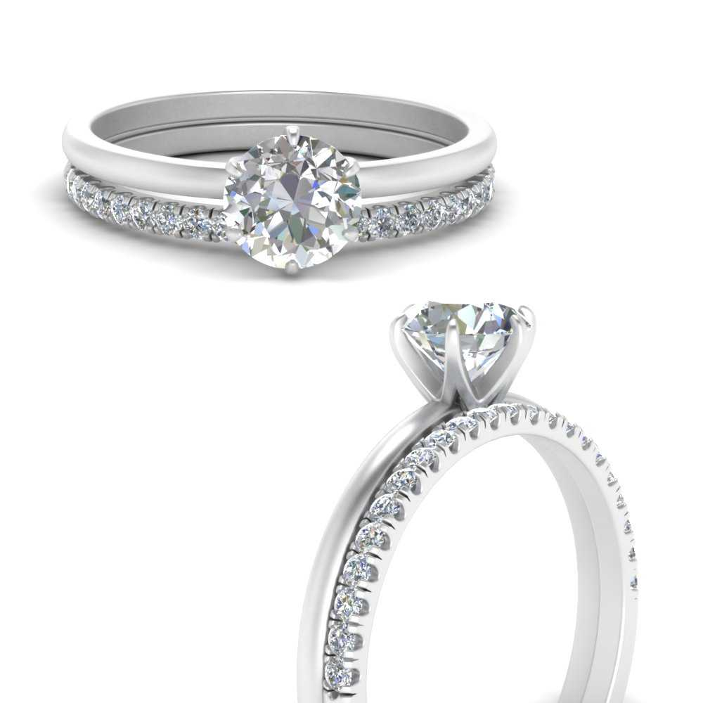 solitaire-engagement-ring-with-diamond-wedding-band-in-FD1028RO-B3ANGLE3-NL-WG