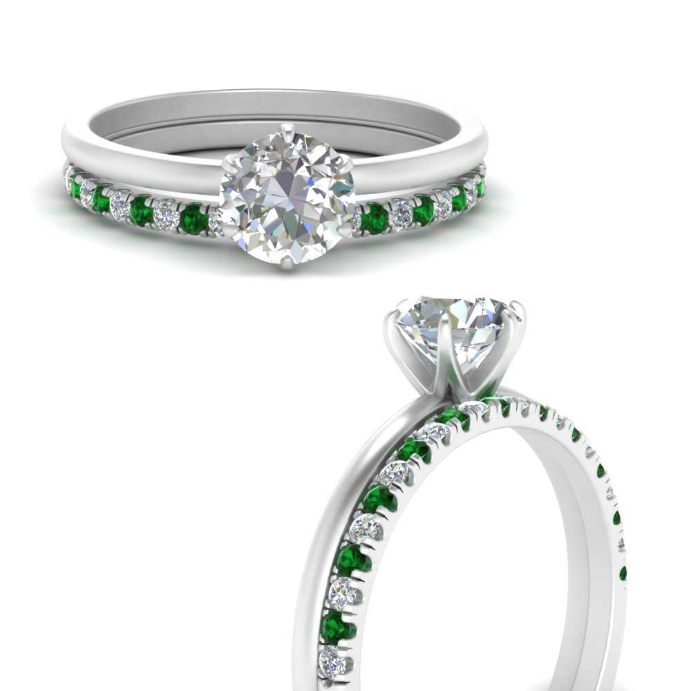 solitaire-engagement-ring-with-emerald-wedding-band-in-FD1028RO-B3-GEMGRANGLE3-NL-WG