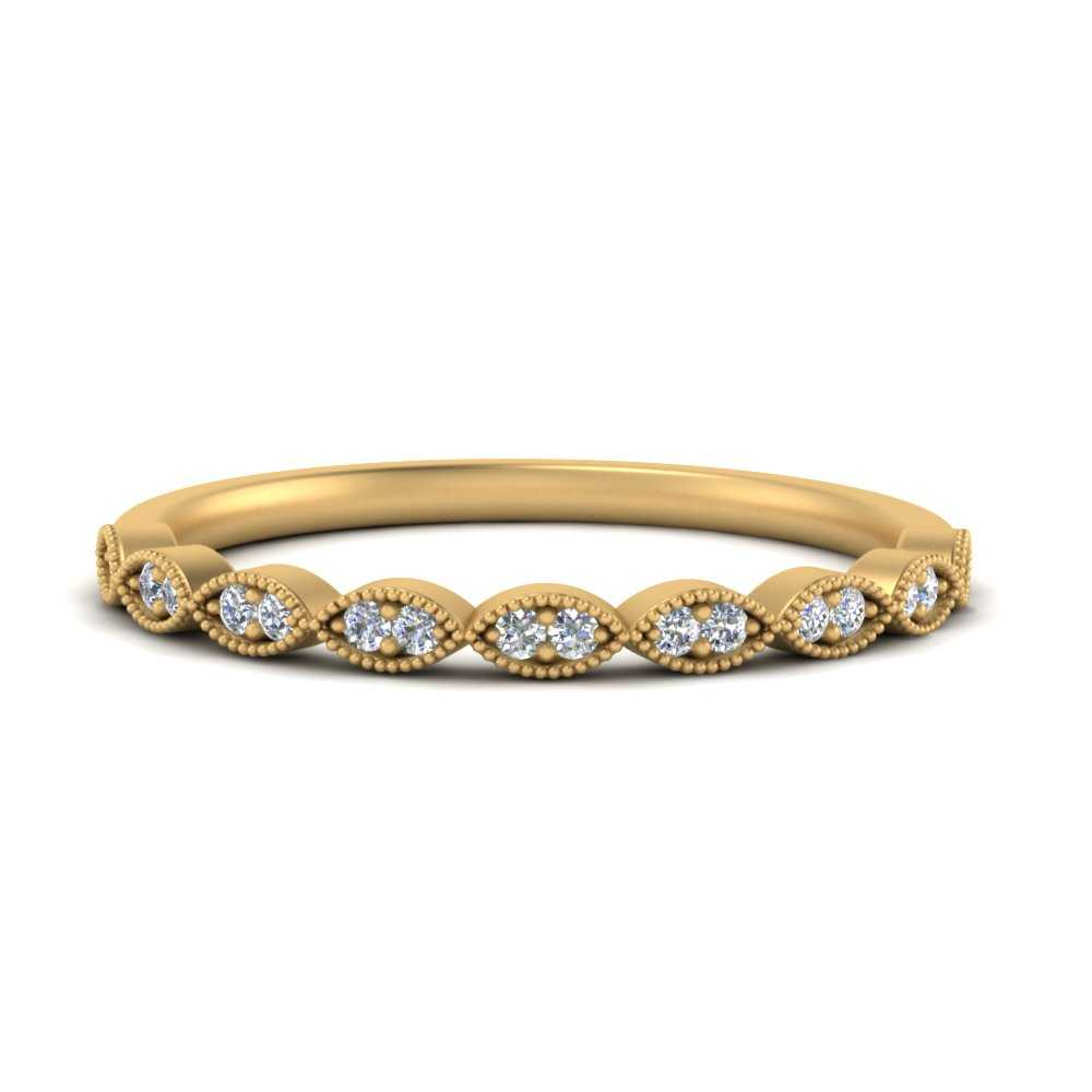 Thin-Stacking-Vintage-diamond-Wedding-Ring-in-FD1069B-NL-YG