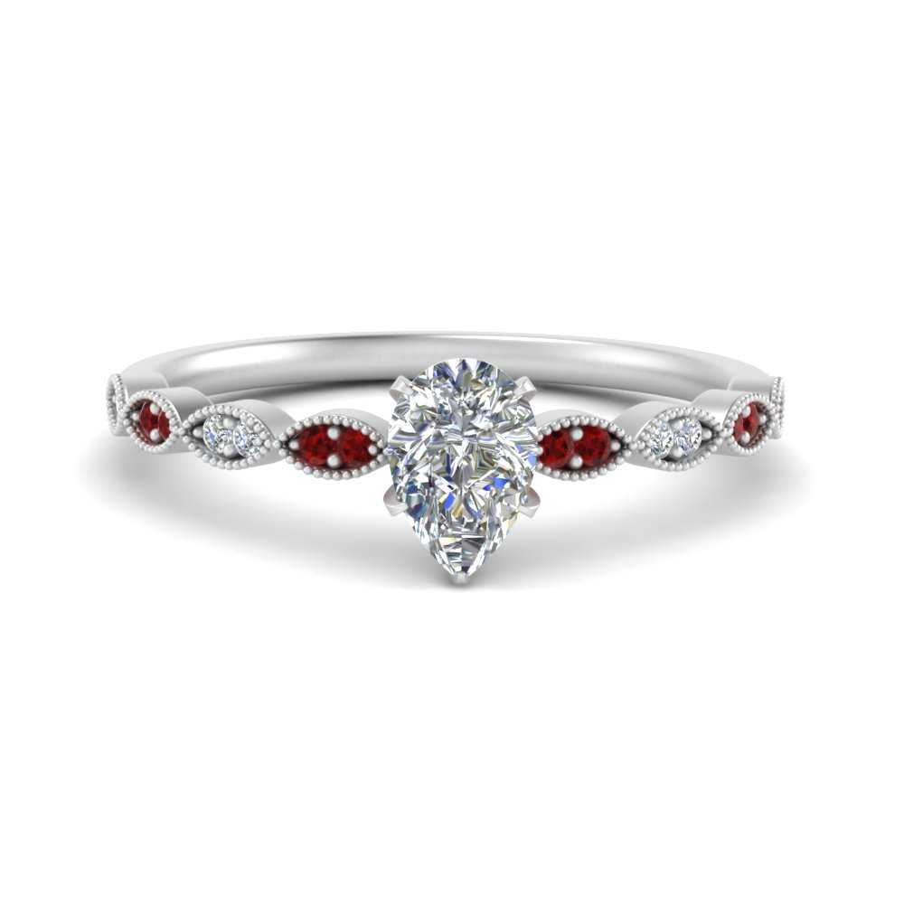 antique-pear-shaped-delicate-diamond-engagement-ring-with-ruby-in-FD1069PERGRUDR-NL-WG