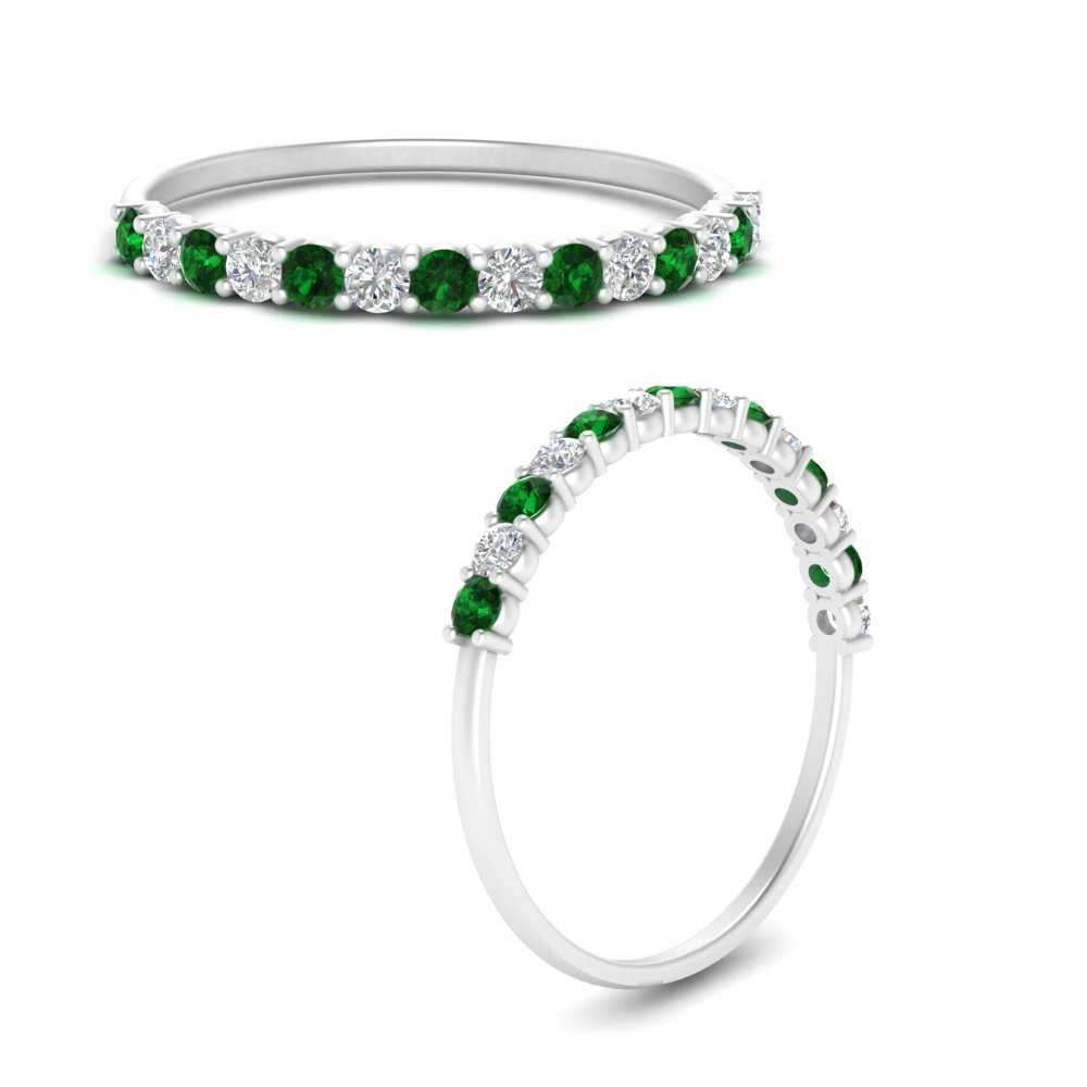 prong-stackable-diamond-ring-with-emerald-in-FD9096GEMGRANGLE3-NL-WG