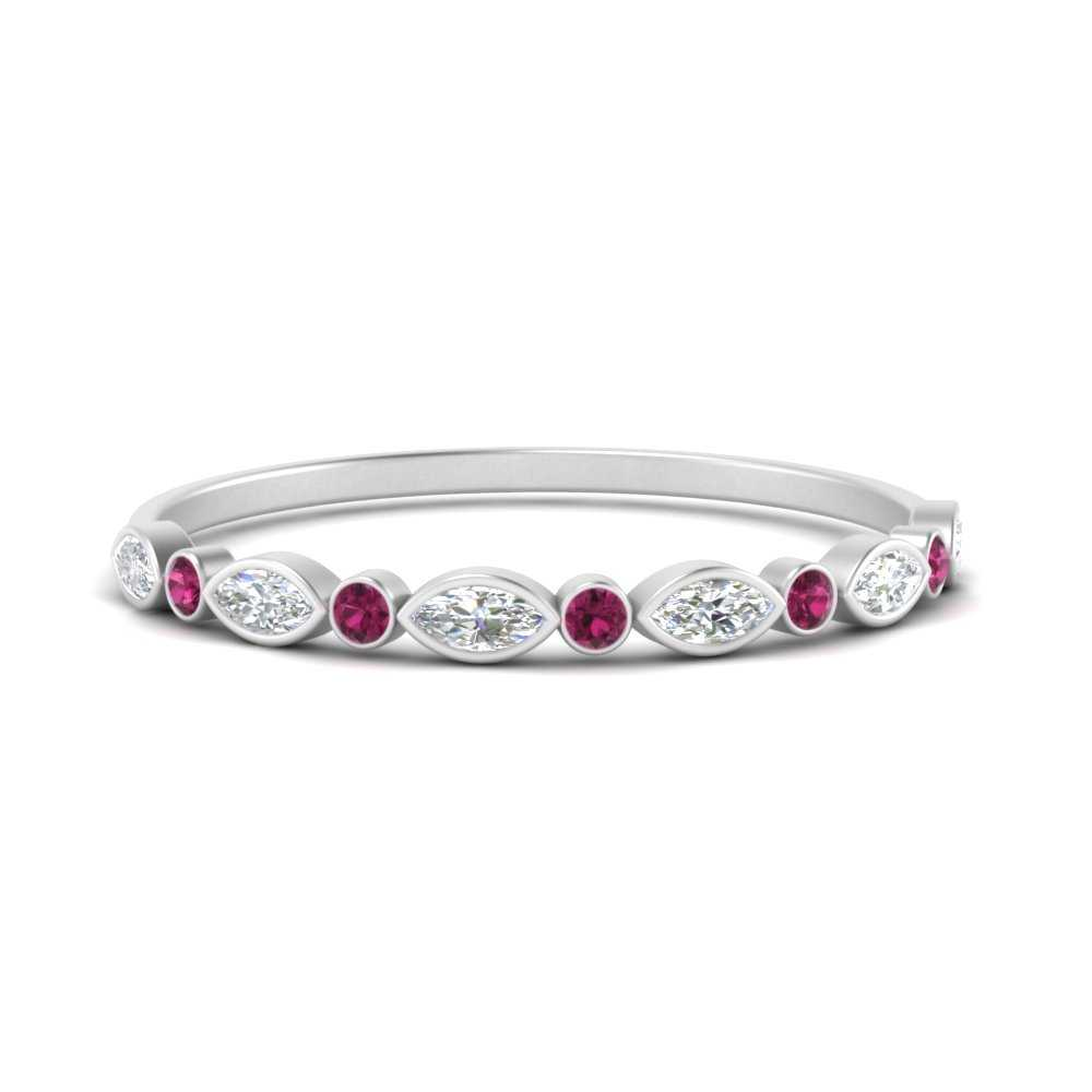 bezel-set-thin-stackable-diamond-band-with-pink-sapphire-in-FDWB5075GSADRPI-NL-WG