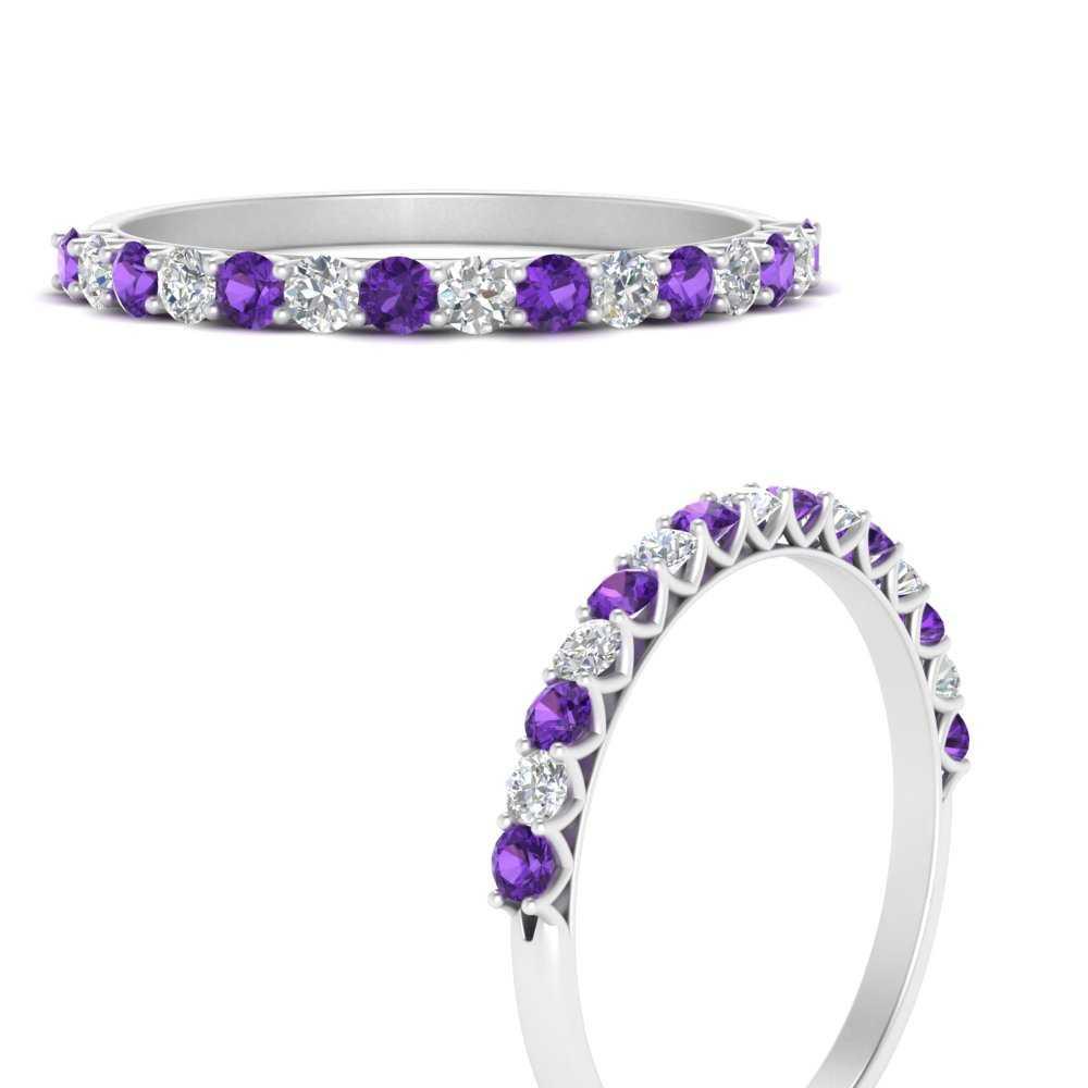 0.50-carat-u-prong-diamond-wedding-ring-with-purple-topaz-in-FDWB660GVITOANGLE3-NL-WG