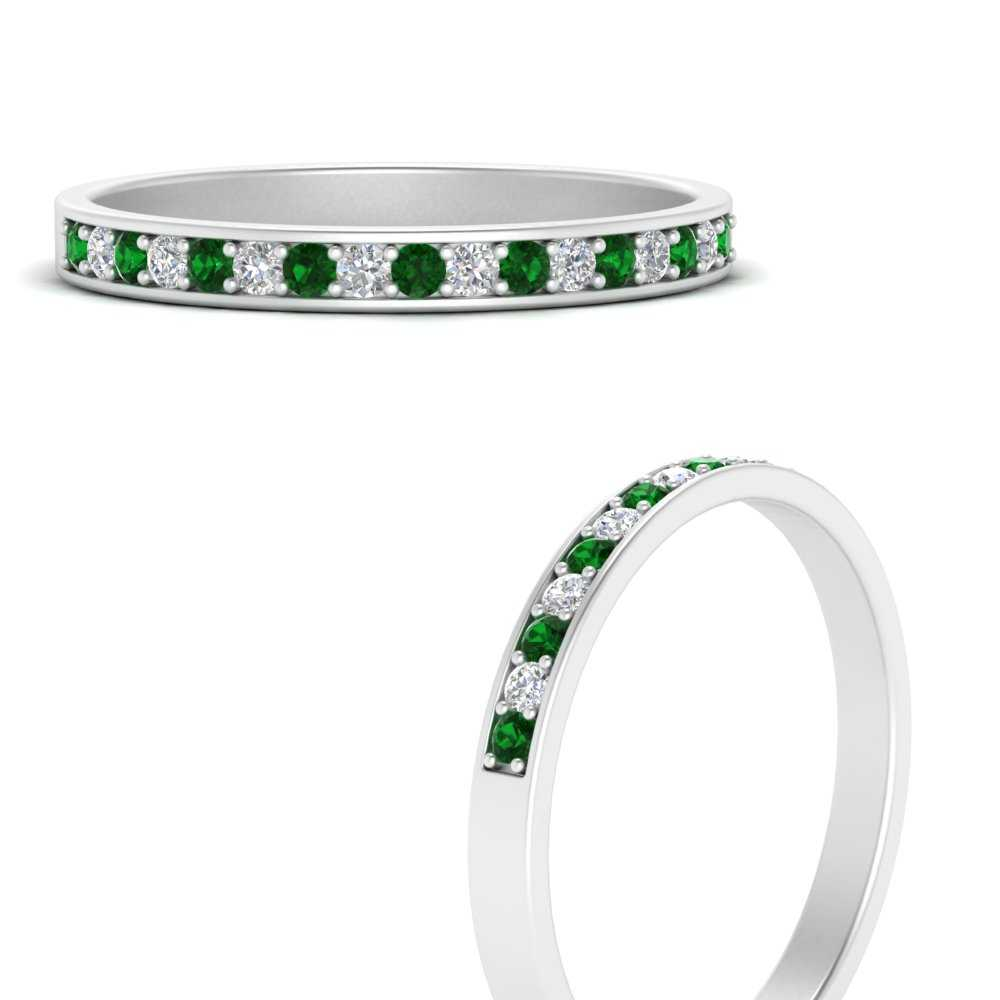 pave-diamond-anniversary-band-with-emerald-in-FD121944GEMGRANGLE3-NL-WG