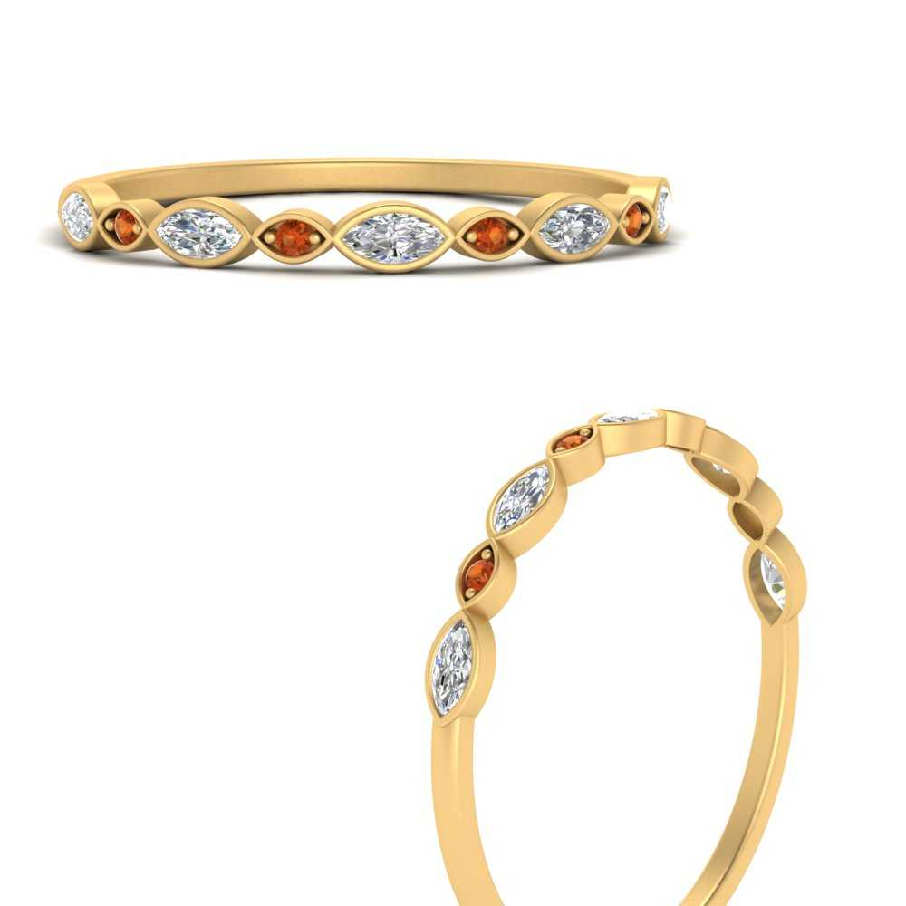 stackable-diamond-marquise-band-with-orange-sapphire-in-FD121823GSAORANGLE3-NL-YG