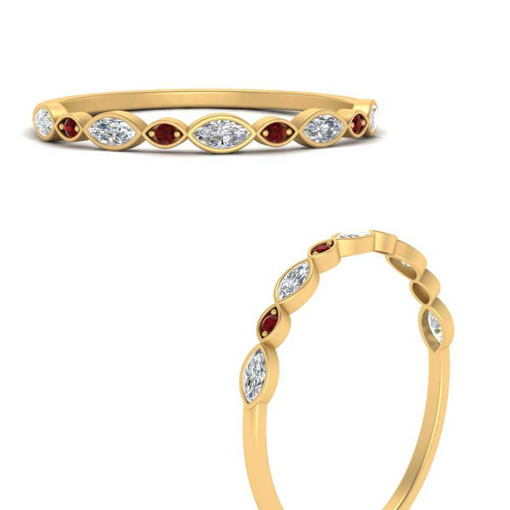 stackable-diamond-marquise-band-with-ruby-in-FD121823GRUDRANGLE3-NL-YG
