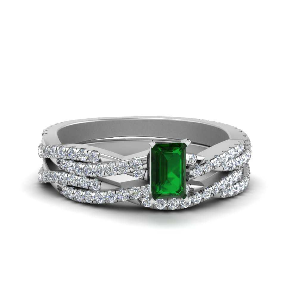 twist-emerald-cut-emerald-wedding-sets-for-women-in-FD8233EMGEMGR-NL-WG-GS