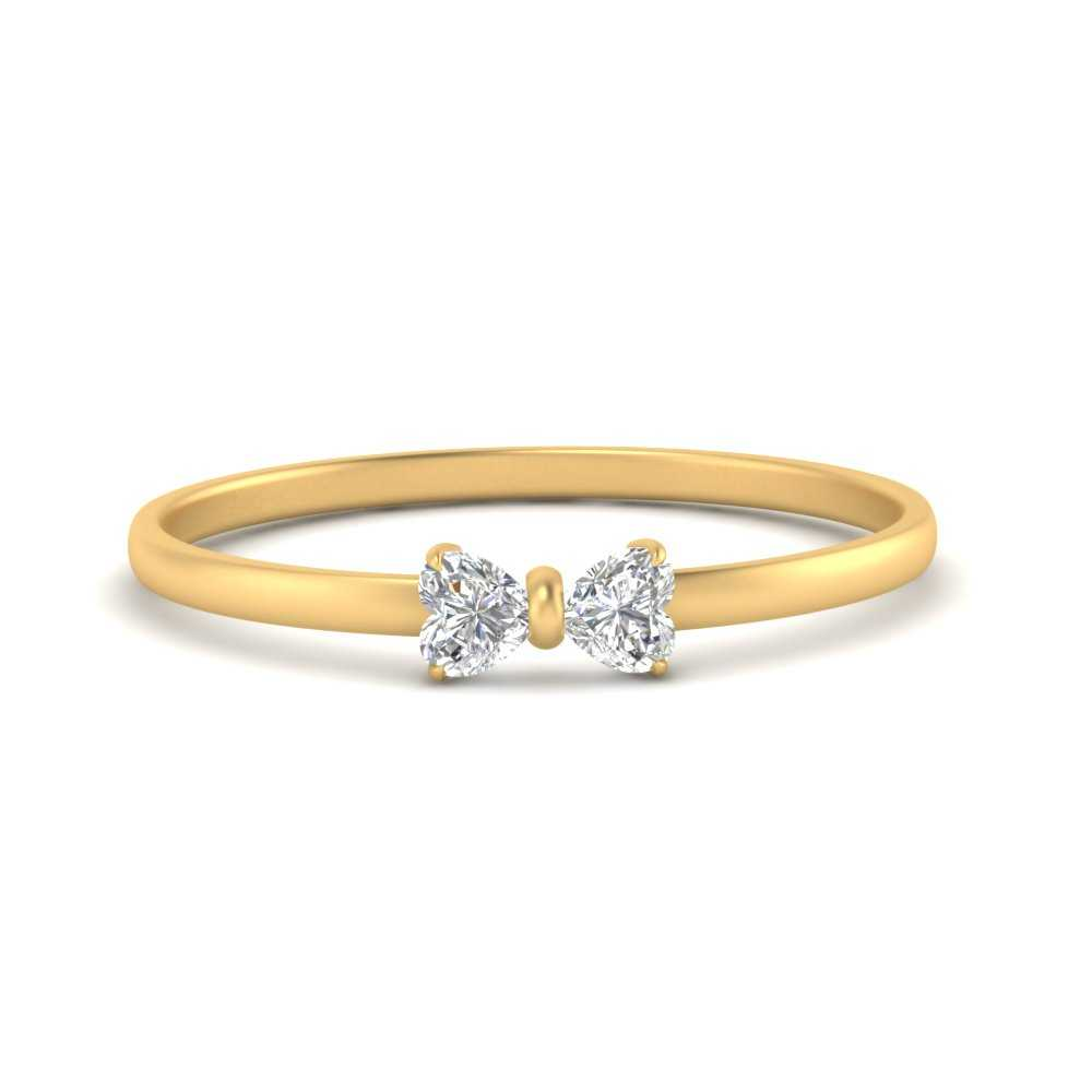 affordable-cute-bow-diamond-ring-in-FD8238B-NL-YG