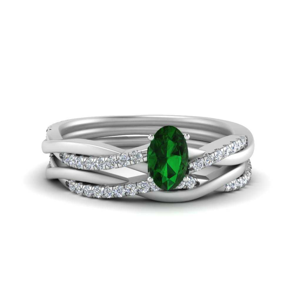 oval-shaped-emerald-womens-wedding-ring-sets-in-FD8253OVGEMGR-NL-WG-GS
