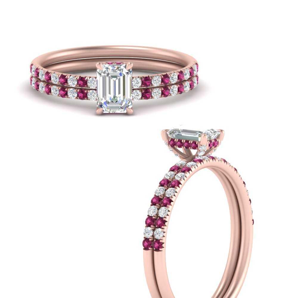 emerald-cut-petite-pave-diamond-wedding-ring-set-with-pink-sapphire-in-FD8523EMGSADRPIANGLE3-NL-RG