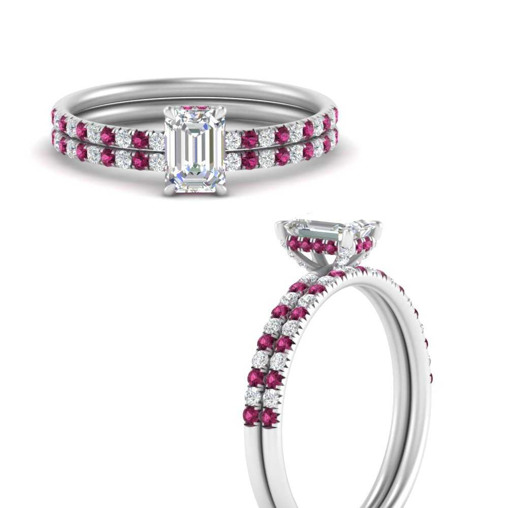 emerald-cut-petite-pave-diamond-wedding-ring-set-with-pink-sapphire-in-FD8523EMGSADRPIANGLE3-NL-WG