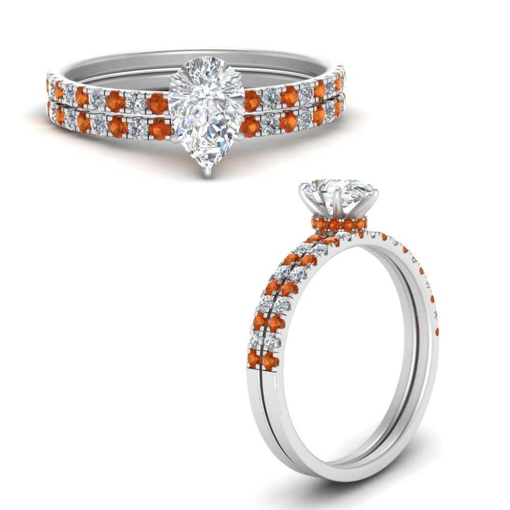 hidden-halo-half-way-pear-shaped-diamond-wedding-ring-set-with-orange-sapphire-in-FD9168PEGSAORANGLE3-NL-WG