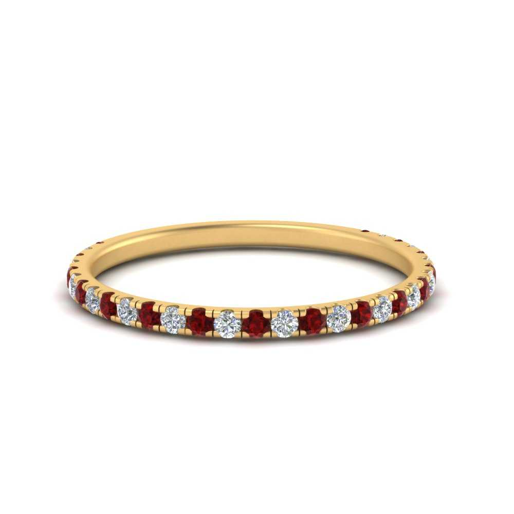 petite-scalloped-diamond-wedding-band-with-ruby-in-FD9168BGRUDR-NL-YG