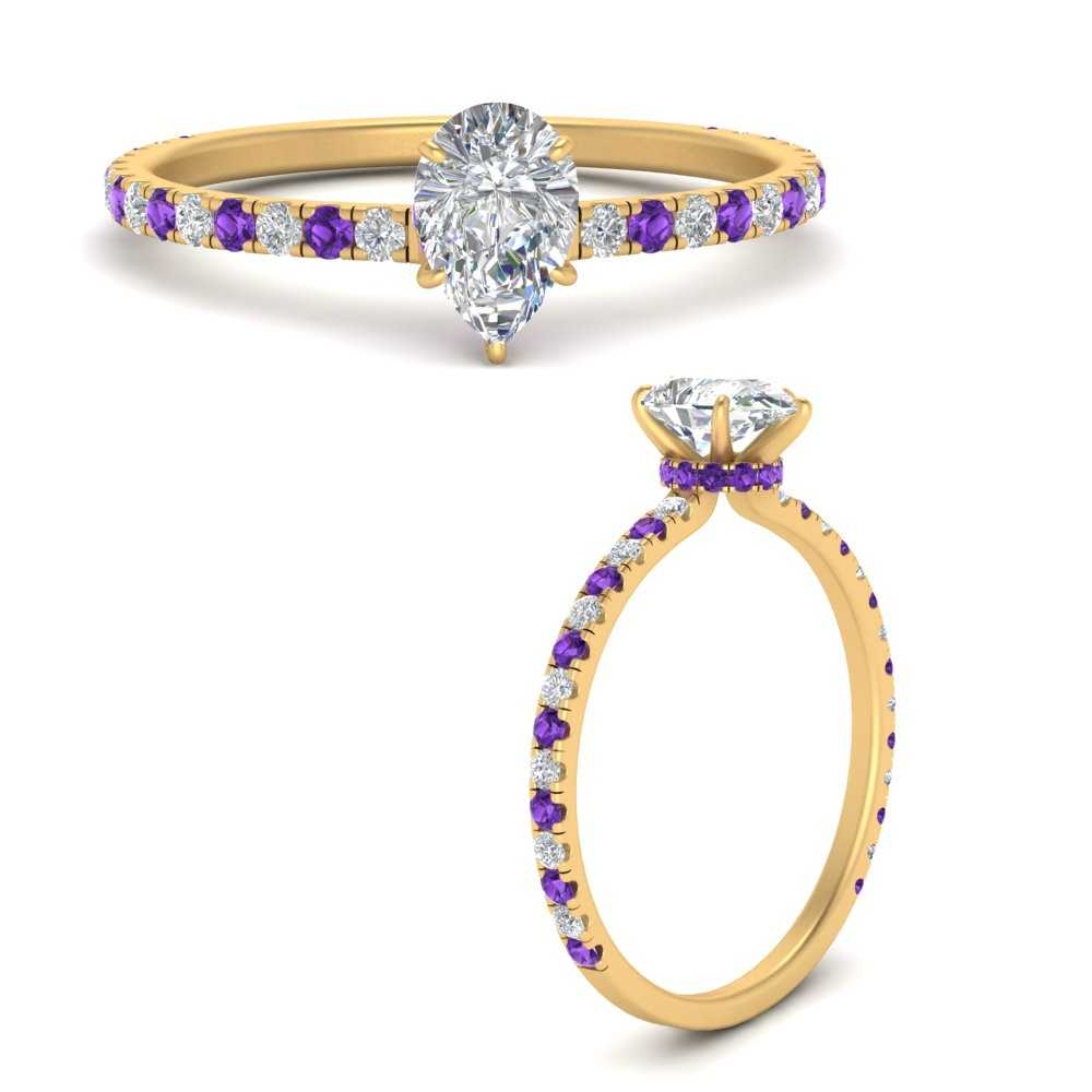 three-fourth-under-halo-pear-shaped-diamond-engagement-ring-with-purple-topaz-in-FD9168PERGVITOANGLE3-NL-YG