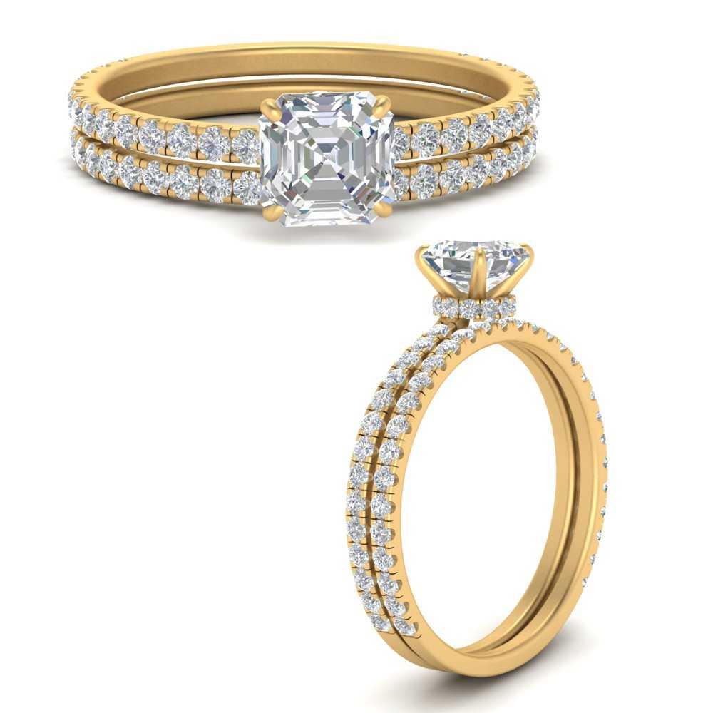 three-quarter-asscher-cut-diamond-gallery-bridal-ring-set-in-FD9168ASANGLE3-NL-YG