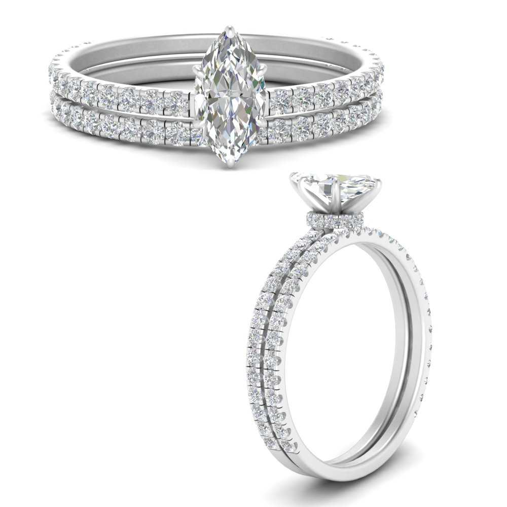 three-quarter-marquise-cut-diamond-gallery-bridal-ring-set-in-FD9168MQANGLE3-NL-WG