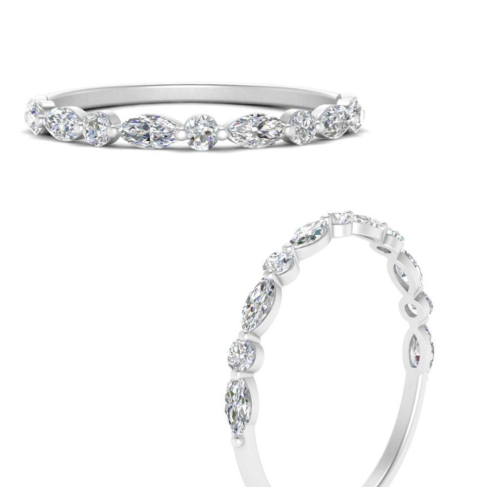 marquise-round-diamond-common-prong-thin-wedding-band-in-FD9403BANGLE3-NL-WG