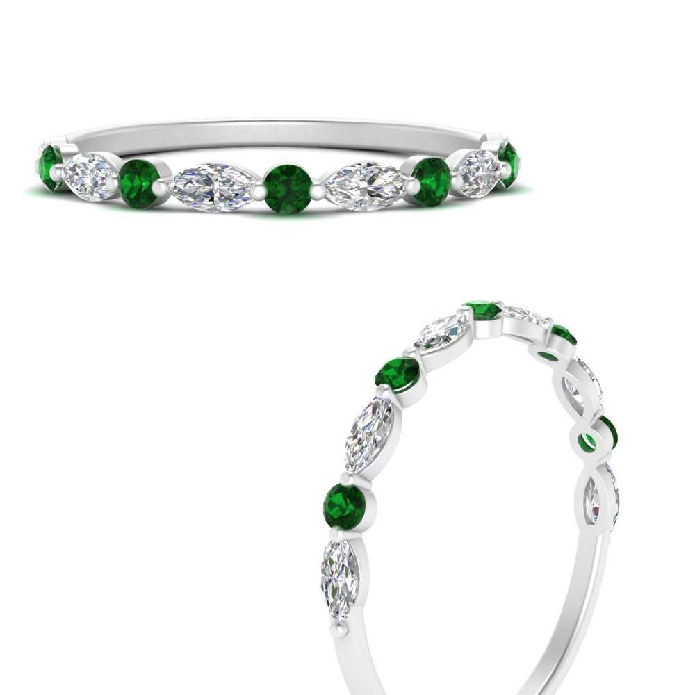 marquise-round-emerald-common-prong-thin-wedding-band-in-FD9403BGEMGRANGLE3-NL-WG