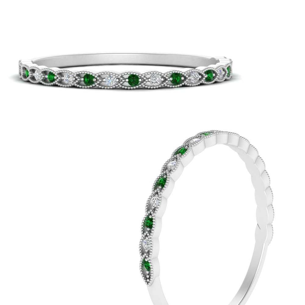 thin-braided-stacking-diamond-ring-with-emerald-in-FD9567GEMGRANGLE3-NL-WG