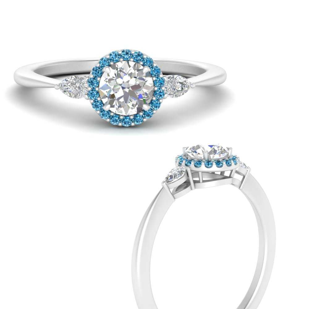 three-stone-halo-round-cut-diamond-engagement-ring-with-blue-topaz-in-FD9570RORGICBLTOANGLE3-NL-WG