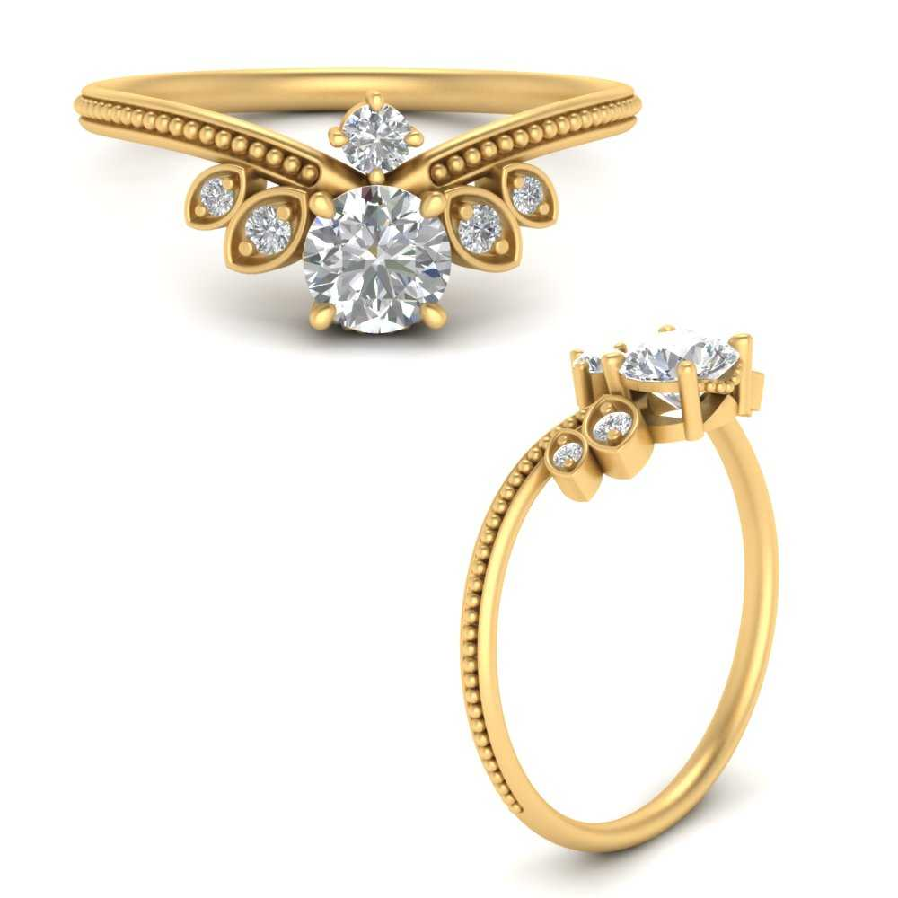 art-deco-milgrain-round-diamond-engagement-ring-in-FD9578RORANGLE3-NL-YG