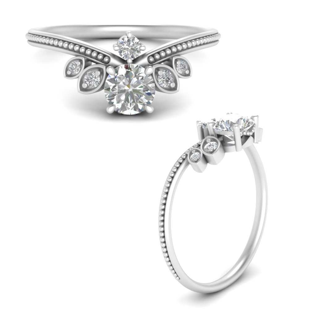 vintage-crown-style-round-lab diamond-engagement-ring-in-FD9578RORANGLE3-NL-WG