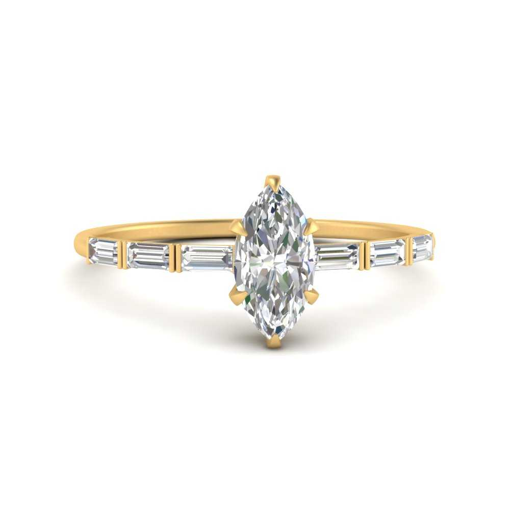marquise-cut-baguette-diamond-engagement-ring-in-FD9579MQR-NL-YG
