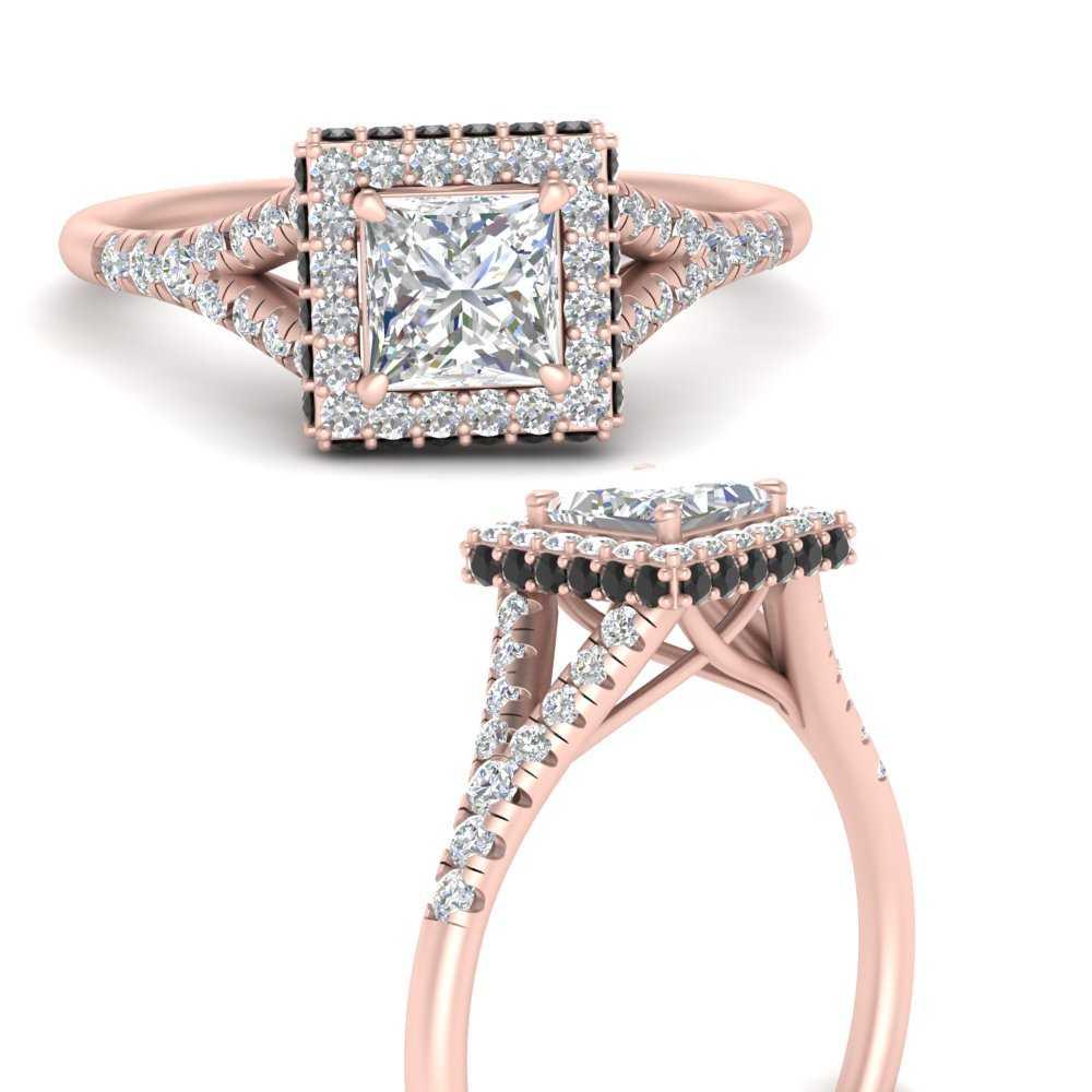 split-shank-princess-cut-halo-moissanite engagement-ring-with-black-diamond-in-FD9592PRRGBLACKANGLE3-NL-RG