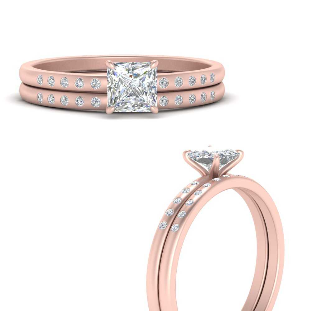 scattered-bezel-princess-cut-wedding-ring-sets-in-FD9593PRANGLE3-NL-RG