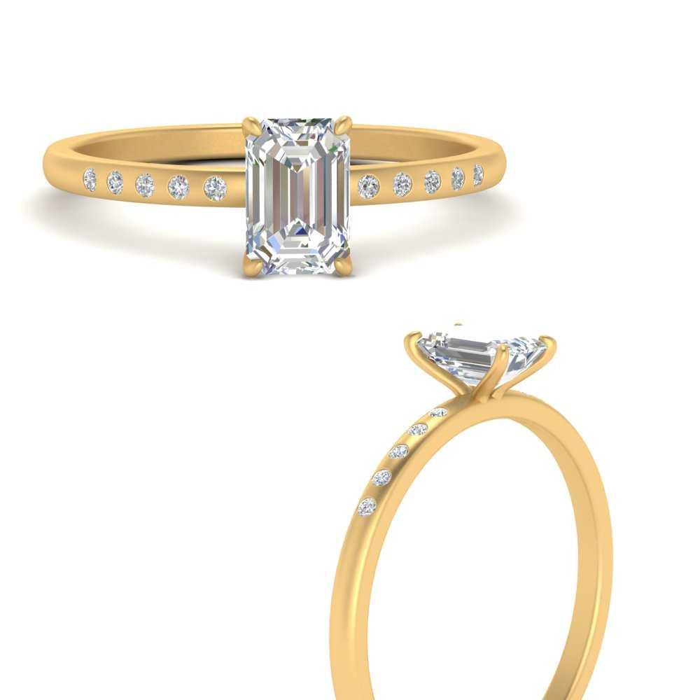 thin-bezel-set-scattered-emerald-cut-engagement-ring-in-FD9593EMRANGLE3-NL-YG