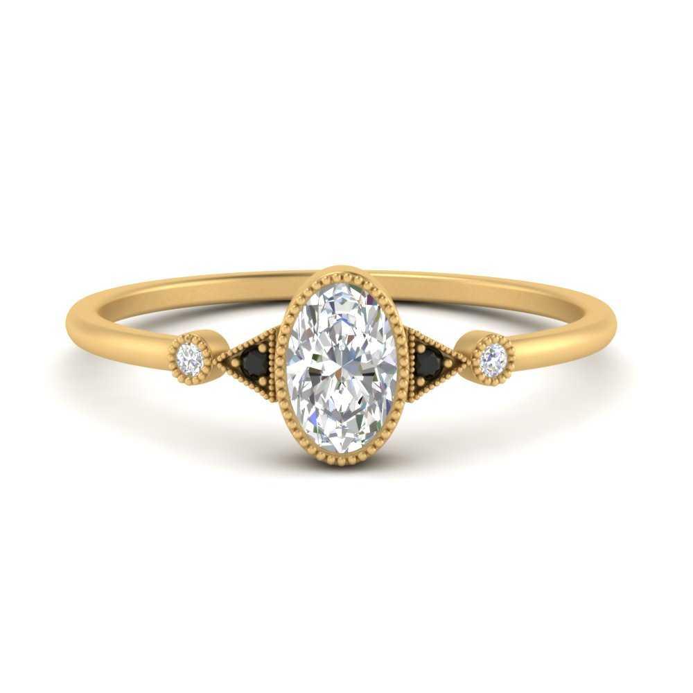 milgrain-bezel-oval-engagement-ring-with-black-diamond-in-FD9602OVRGBLACK-NL-YG