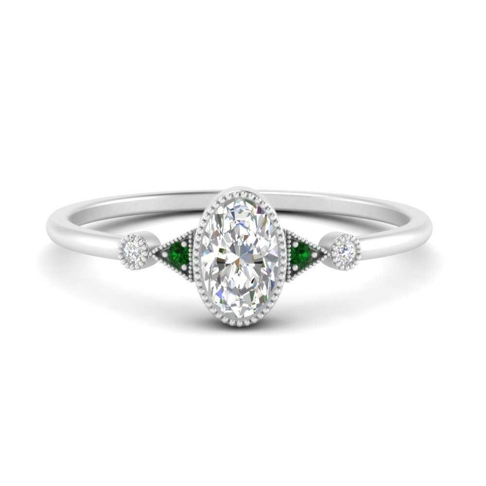 milgrain-bezel-oval-diamond-engagement-ring-with-emerald-in-FD9602OVRGEMGR-NL-WG