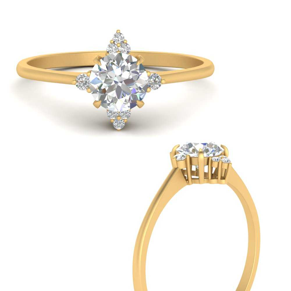 simple-vintage-round-diamond-engagement-ring-in-FD9605RORANGLE3-NL-YG