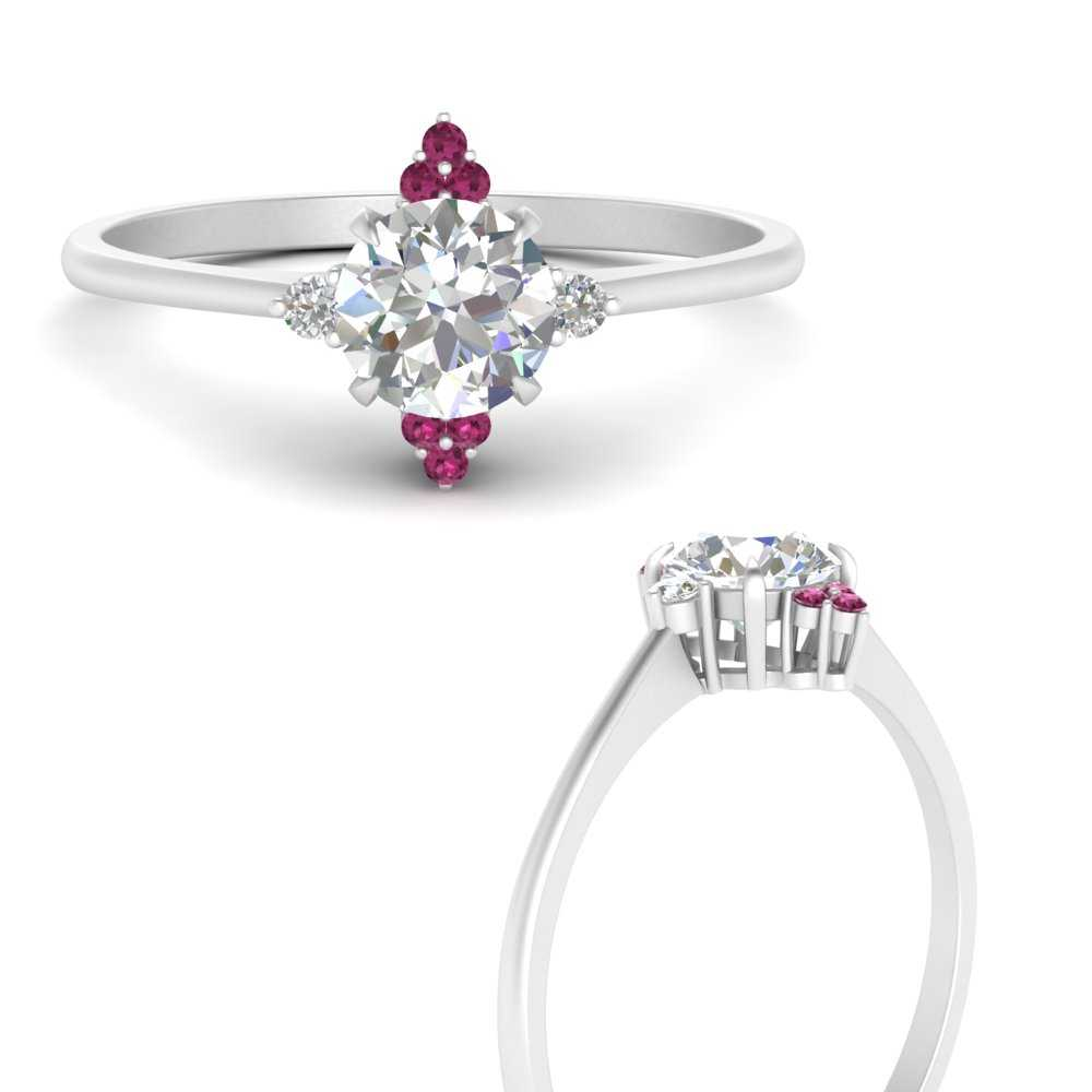 simple-vintage-round-diamond-engagement-ring-with-pink-sapphire-in-FD9605RORGSADRPIANGLE3-NL-WG