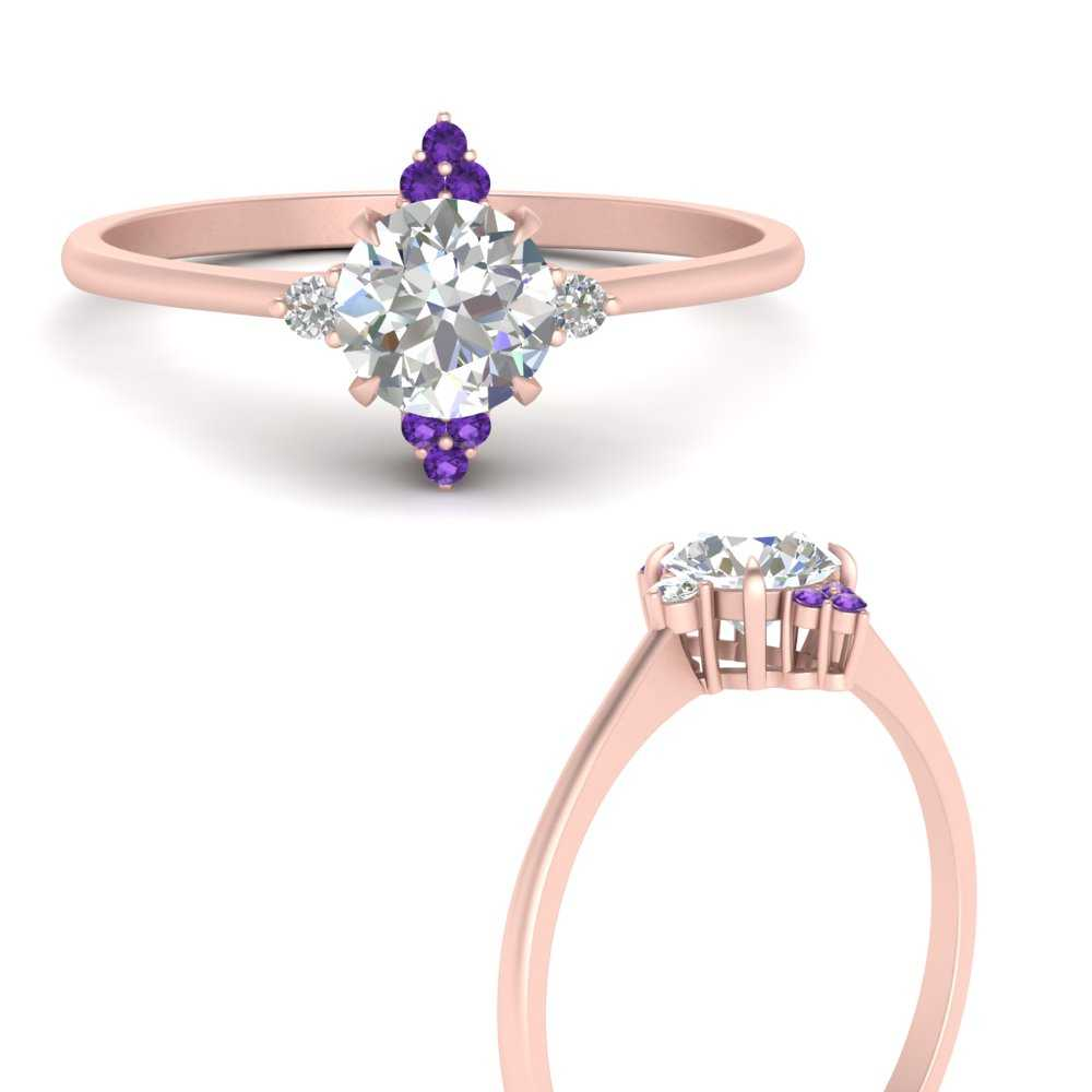 simple-vintage-round-diamond-engagement-ring-with-purple-topaz-in-FD9605RORGVITOANGLE3-NL-RG