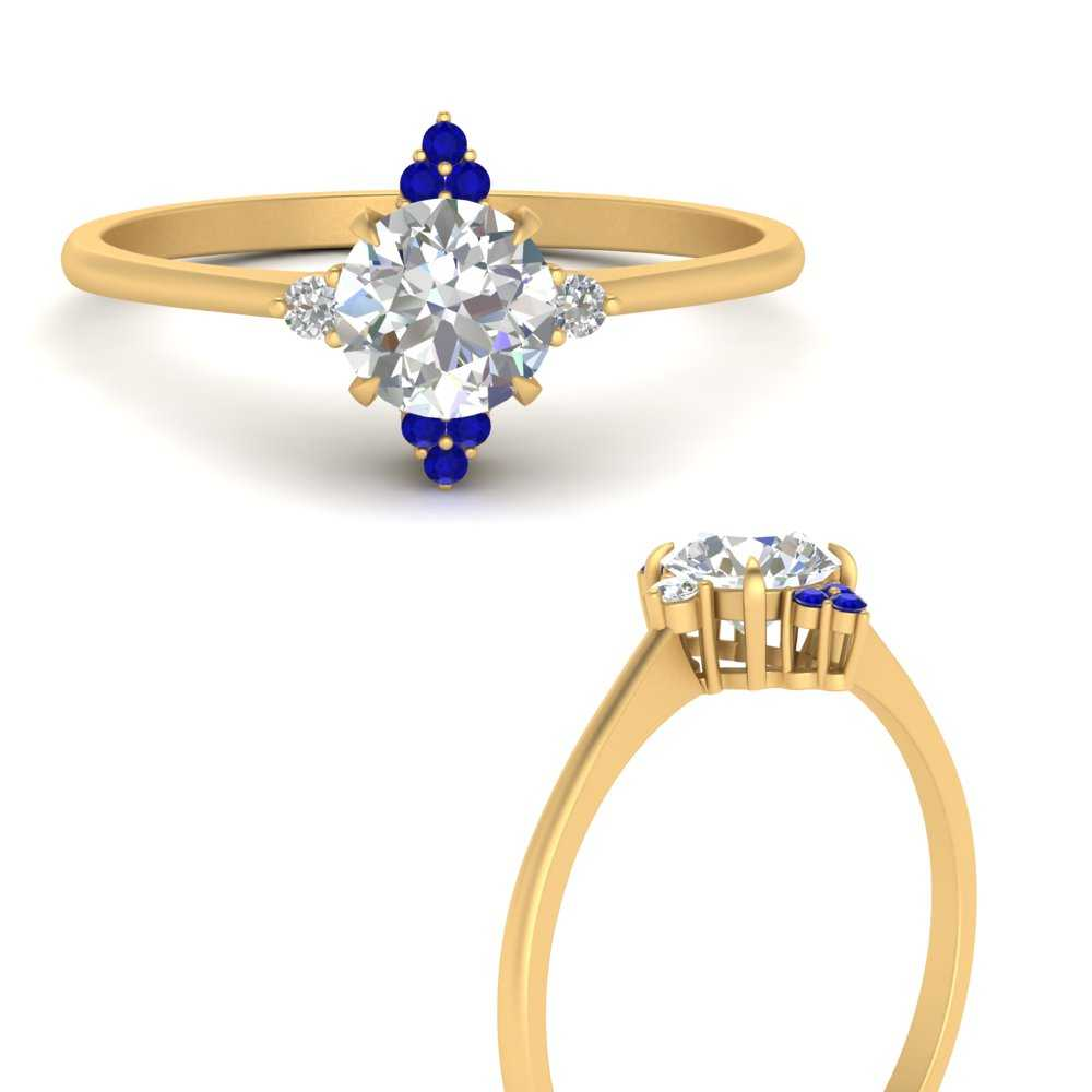 simple-vintage-round-diamond-engagement-ring-with-sapphire-in-FD9605RORGSABLANGLE3-NL-YG