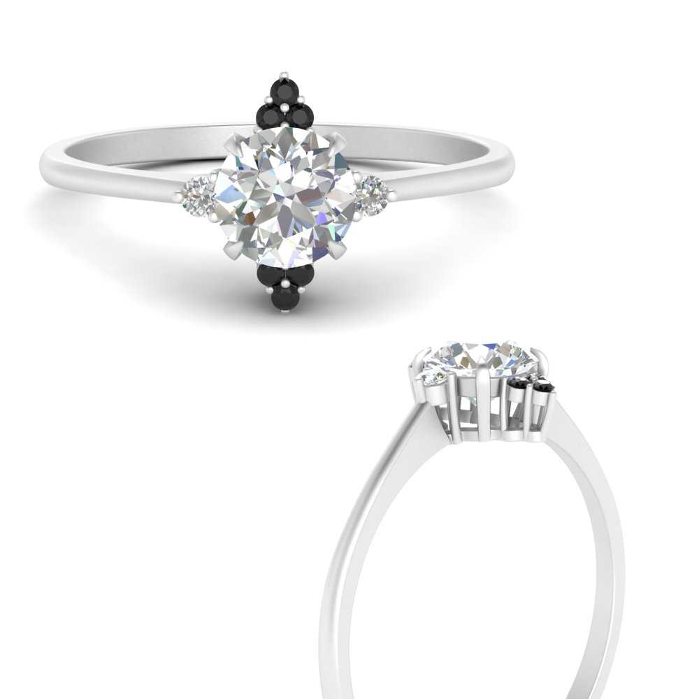simple-vintage-round-engagement-ring-with-black-diamond-in-FD9605RORGBLACKANGLE3-NL-WG