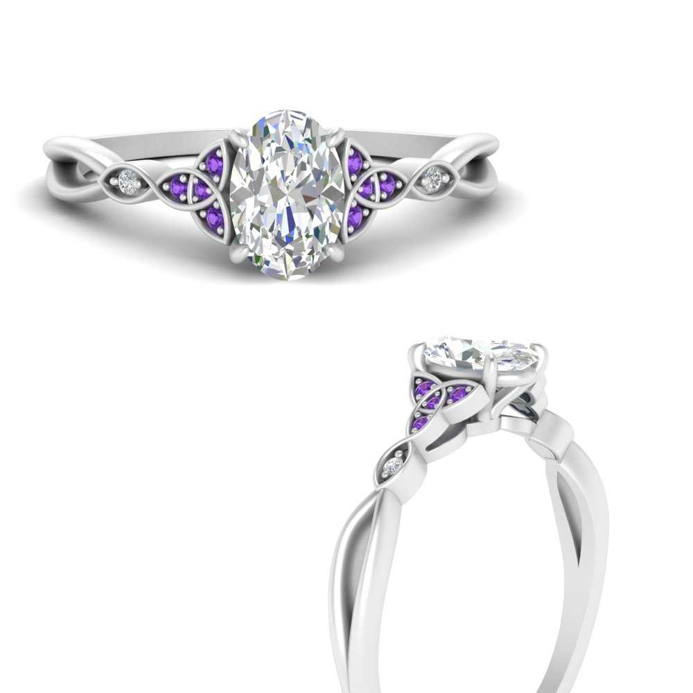 celtic-knot-split-oval-shaped-diamond-engagement-ring-with-purple-topaz-in-FD9609OVRGVITOANGLE3-NL-WG