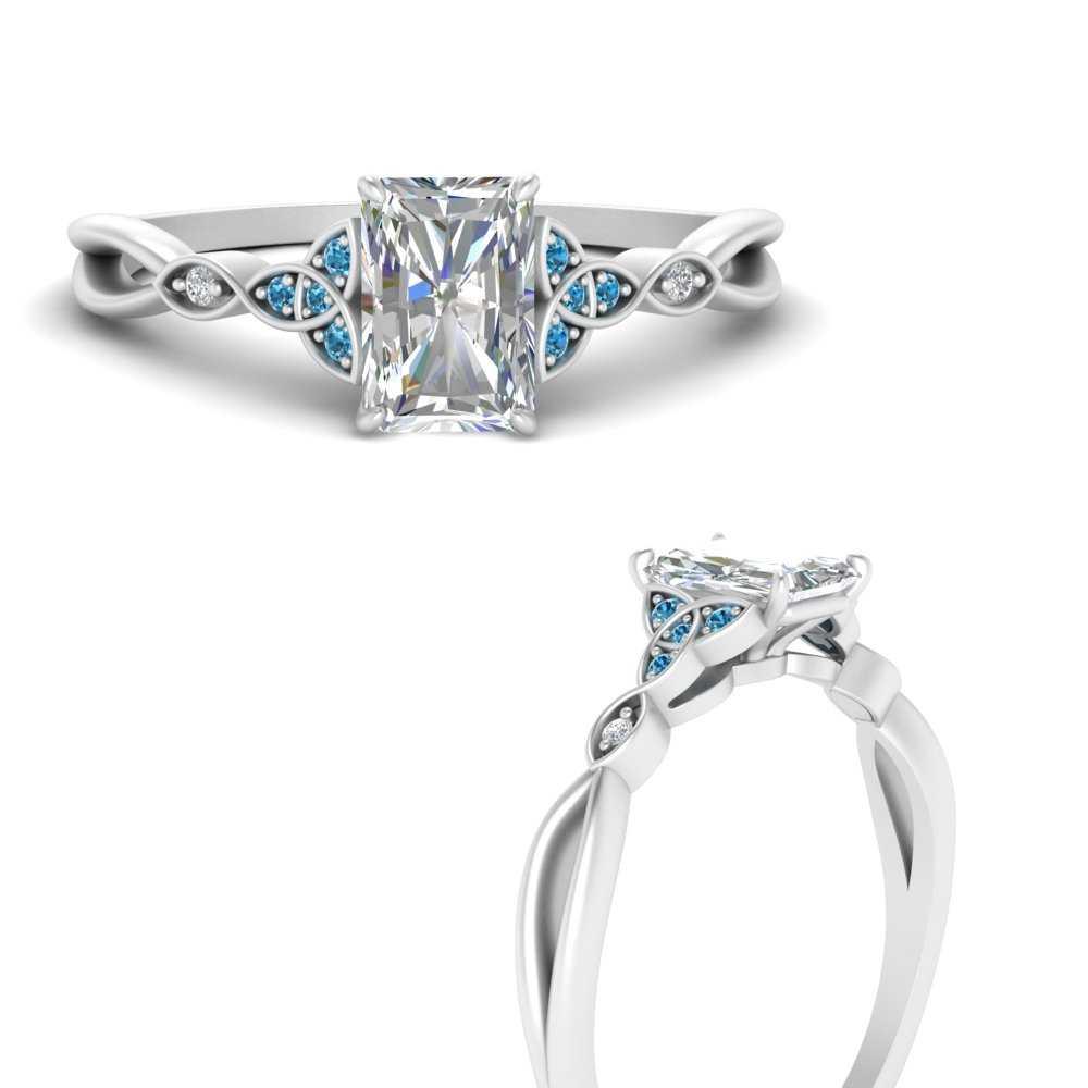 celtic-knot-split-radiant-cut-diamond-engagement-ring-with-blue-topaz-in-FD124181RARGICBLTOANGLE3-NL-WG