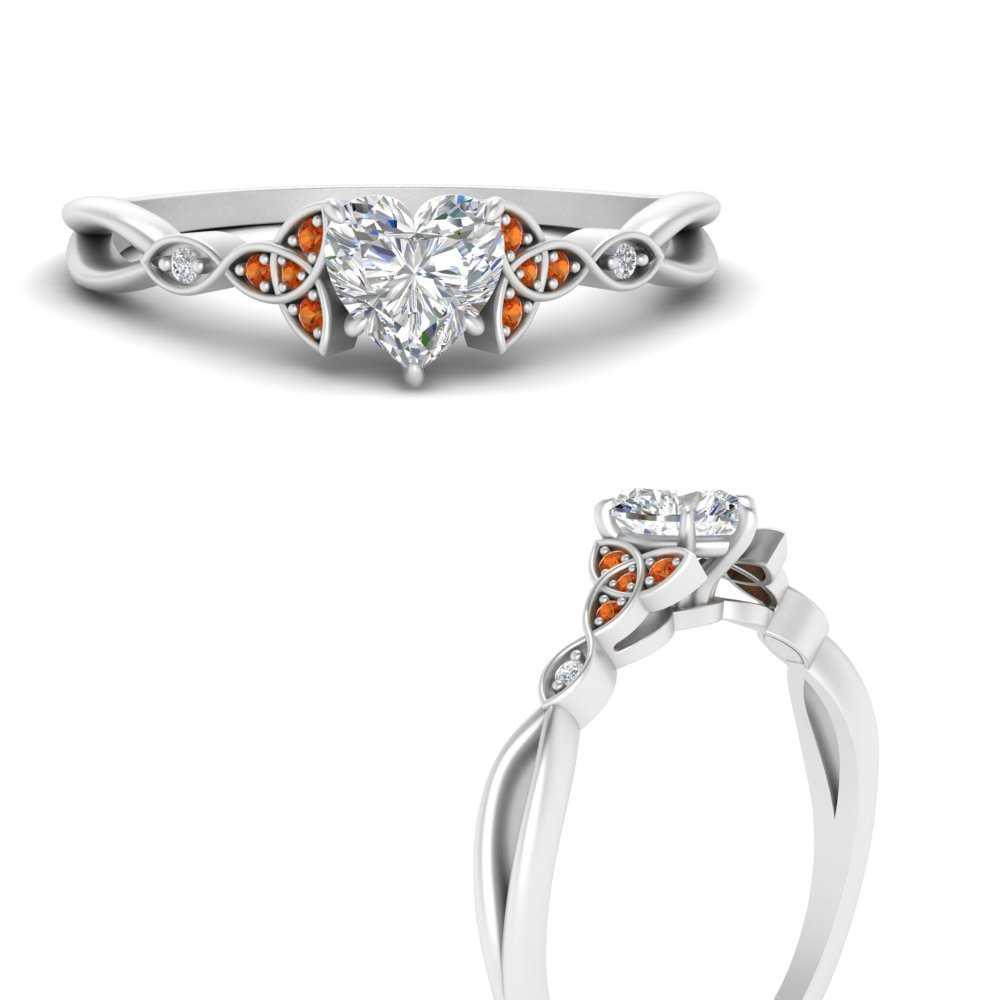vintage-irish-knot-heart-diamond-engagement-ring-with-orange-sapphire-in-FD9609HTRGSAORANGLE3-NL-WG