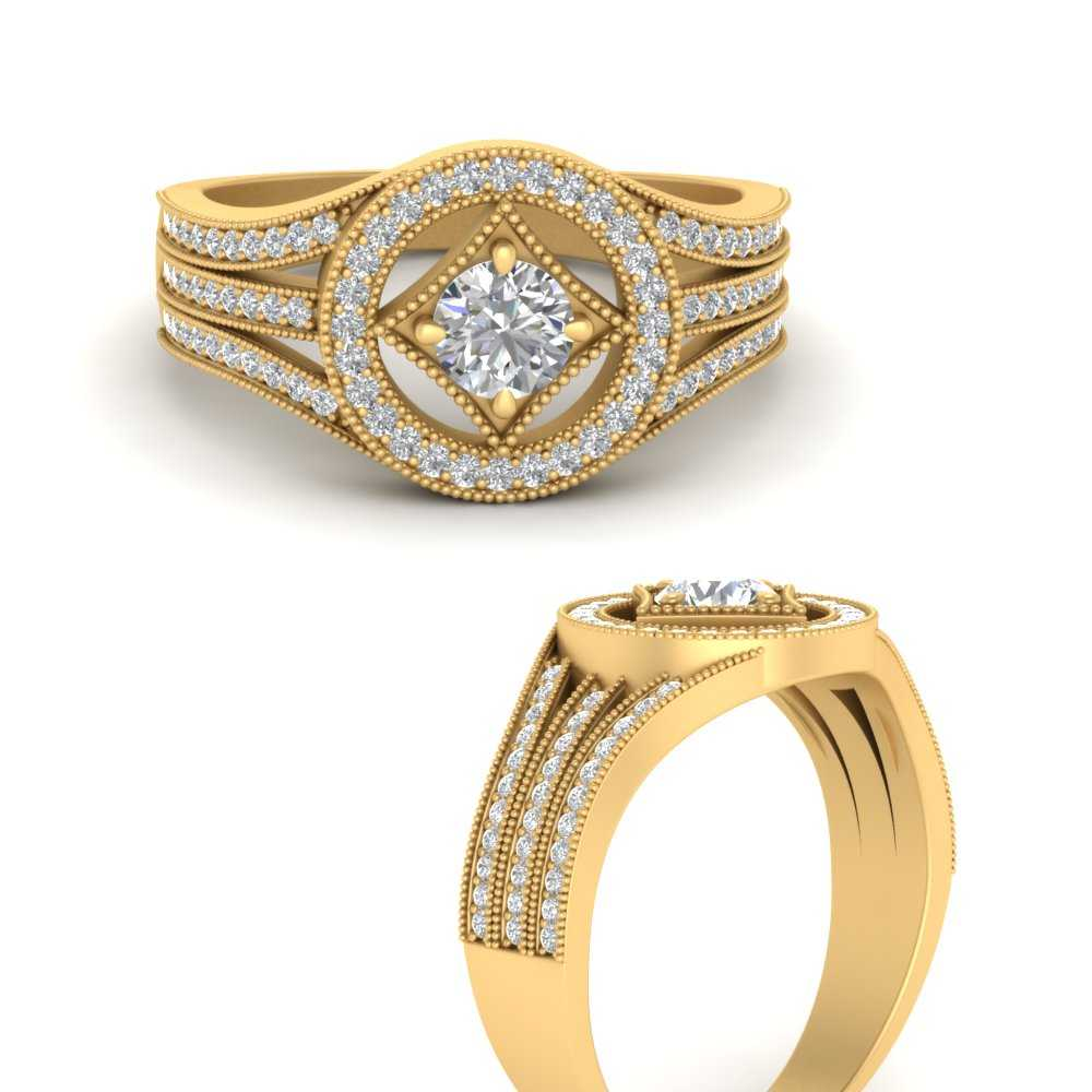 affordable-vintage-diamond-engagement-ring-in-FD9611RORANGLE-NL-YG