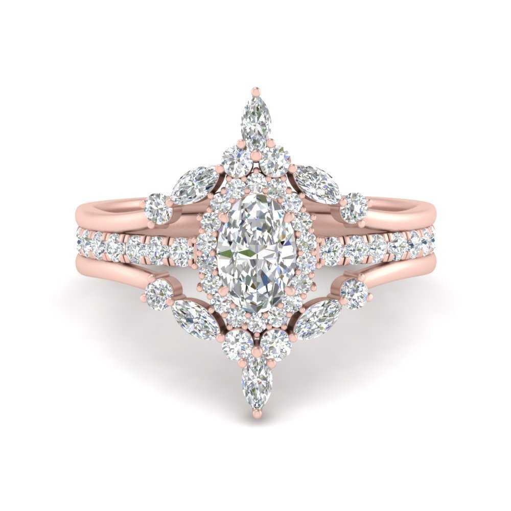 oval-halo-crown-diamond-wedding-ring-set-in-FD9612OV-NL-RG