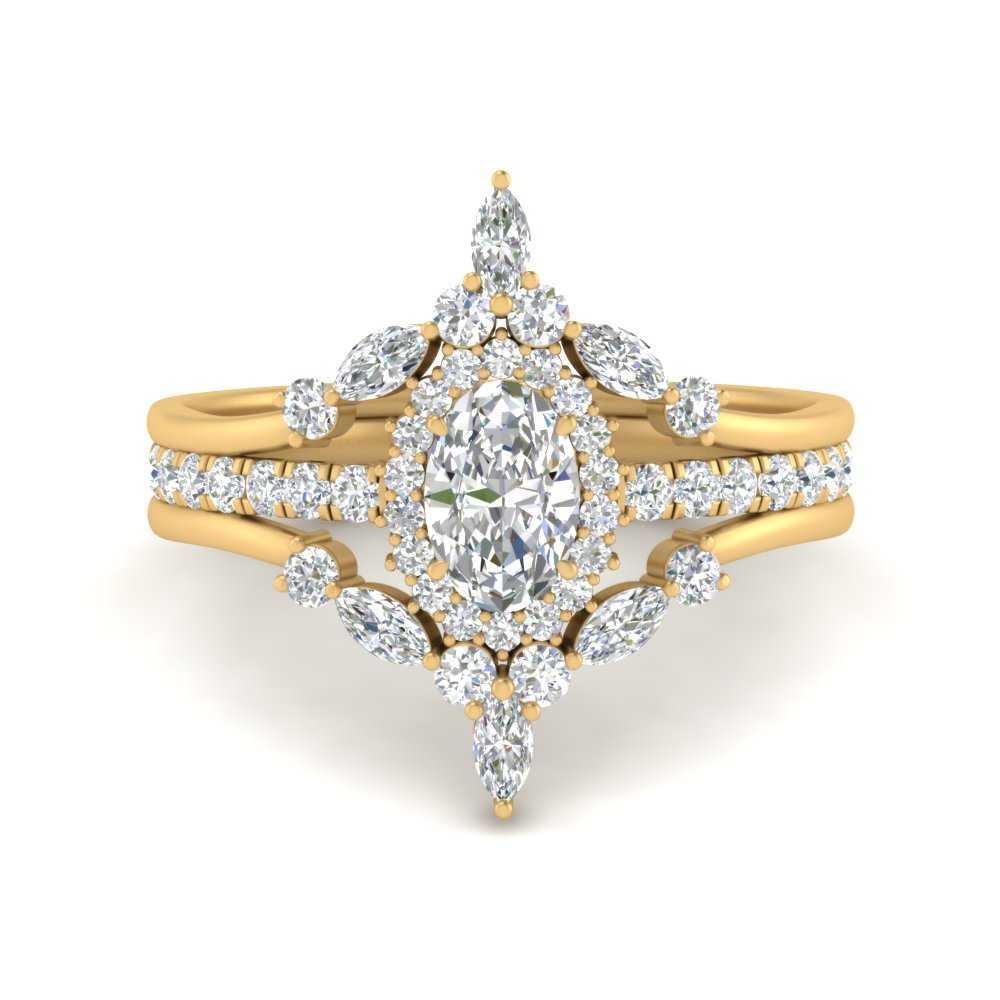 oval-halo-crown-diamond-wedding-ring-set-in-FD9612OV-NL-YG