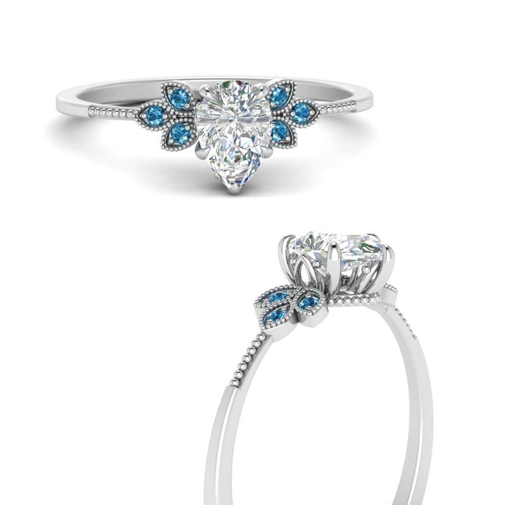 leaf-diamond-pear-engagement-ring-with-blue-topaz-in-FD9615PERGICBLTOANGLE3-NL-WG