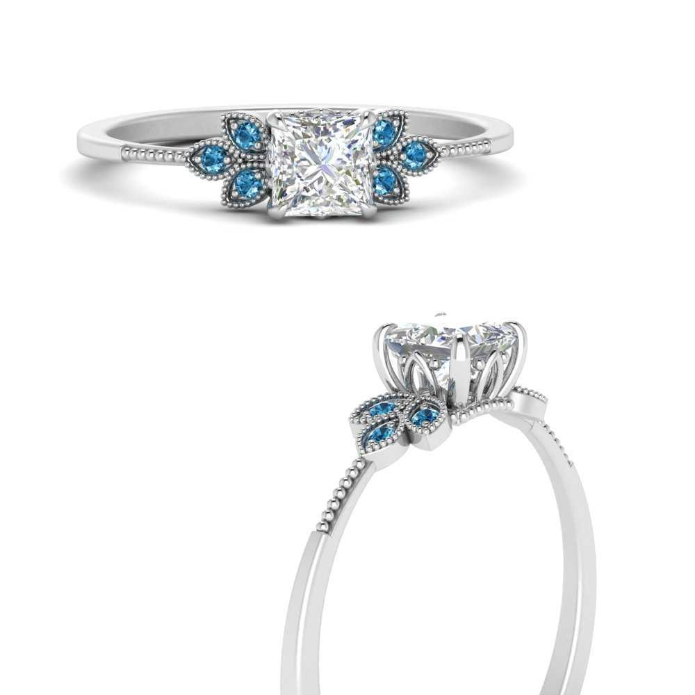 leaf-lab diamond-princess-cut-engagement-ring-with-blue-topaz-in-FD9615PRRGICBLTOANGLE3-NL-WG