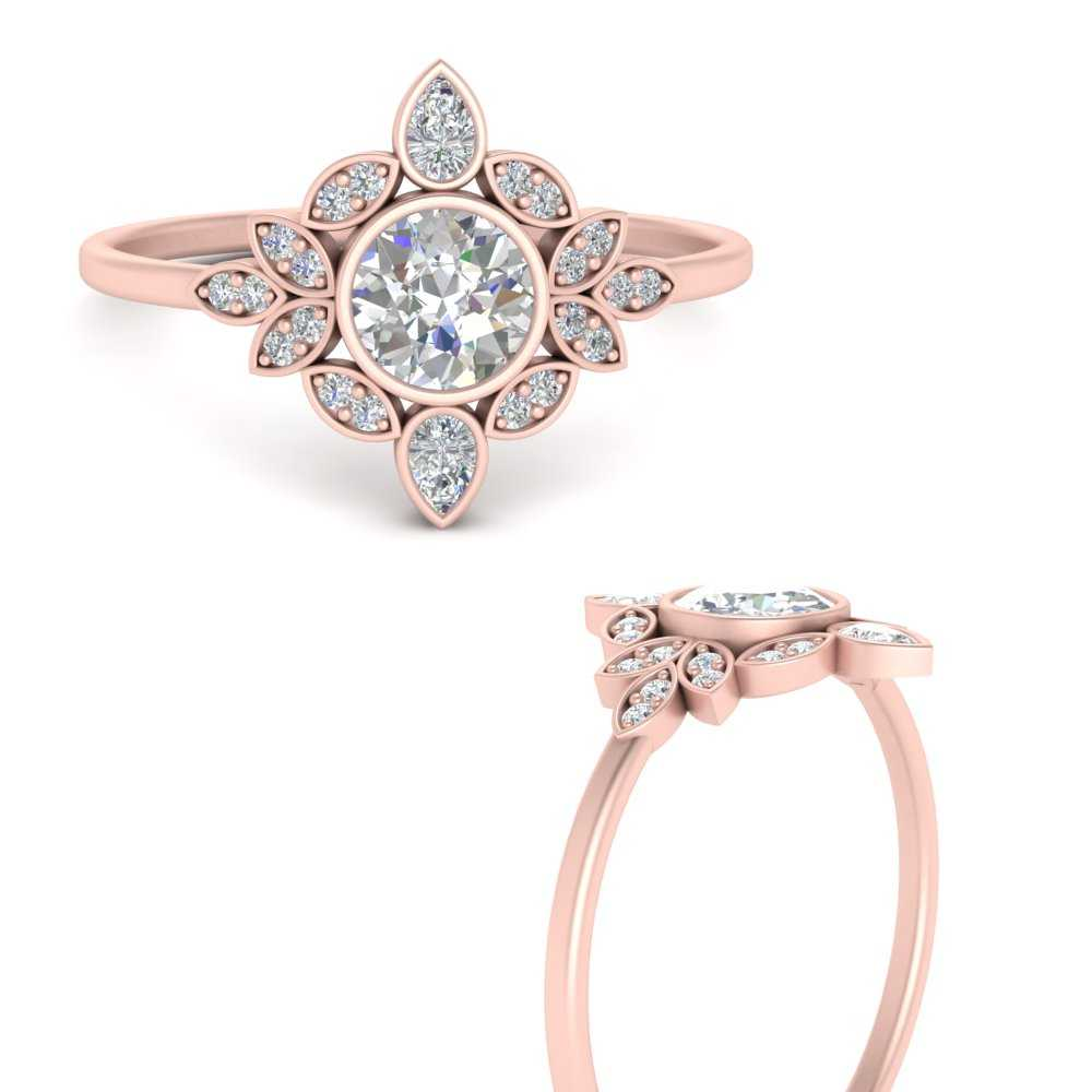 round-bezel-vintage-floral-diamond-engagement-ring-in-FD9630RORANGLE3-NL-RG