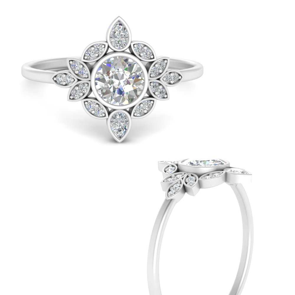 round-bezel-vintage-floral-diamond-engagement-ring-in-FD9630RORANGLE3-NL-WG